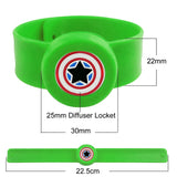 Children's Batman or Captian America Essential Oil Diffuser Wrist Strap