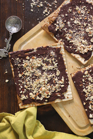 Dark Chocolate Almond Butter Matzo