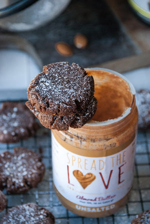 Almond Butter Crinkle Cookies