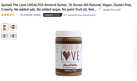 Spread The Love® UNSALTED Almond Butter