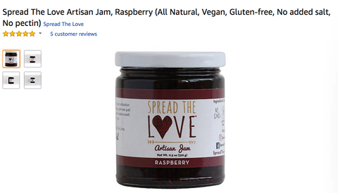 Spread The Love® RASPBERRY Artisan Jam