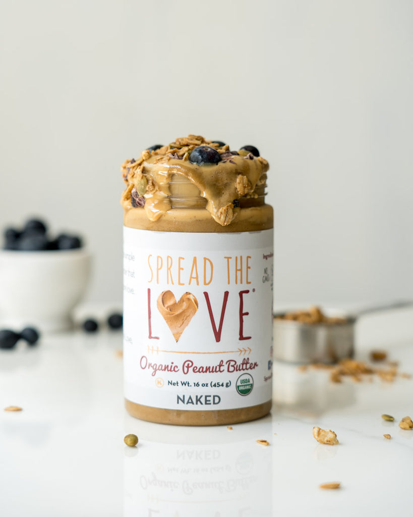 Spread The Love Jar used as a smoothie glass