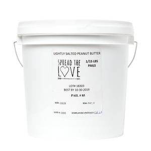 LIGHTLY SALTED Peanut Butter 15-Pound Pail