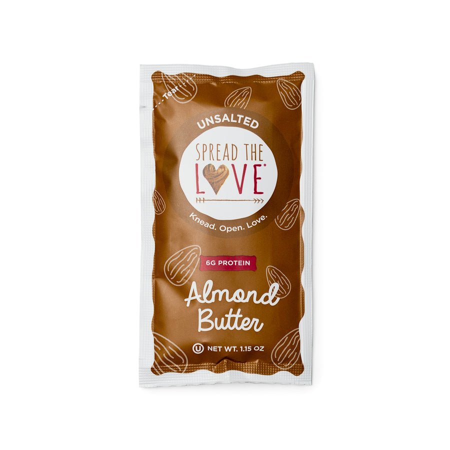 UNSALTED Almond Butter Single Serve Packets (10-pack)