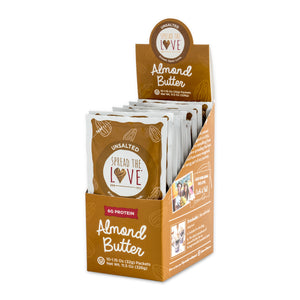 UNSALTED Almond Butter Single-Serve Packets (8 packs of 10) - Wholesale