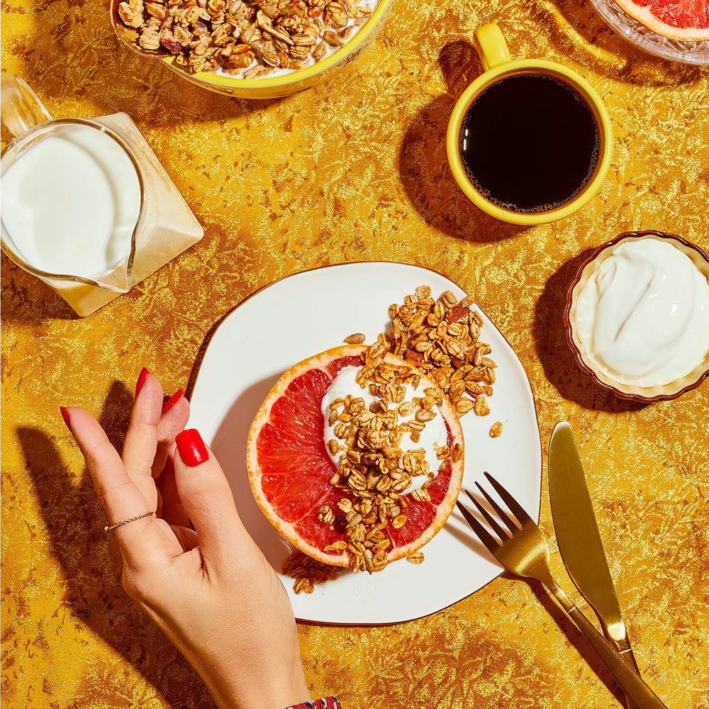 Load image into Gallery viewer, SPREAD THE LOVE GRANOLA GRAPEFRUIT SPREAD LIFESTYLE PHOTOS