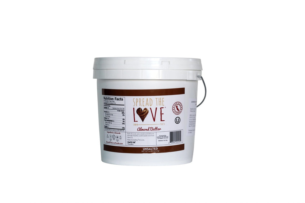 UNSALTED Almond Butter 15-Pound Pail - Wholesale