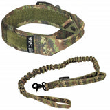 Velcro tactical collar with leash heavy duty