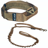 Velcro tactical collar with leash strong