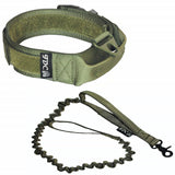 Velcro tactical collar with leash large pet