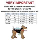 Dog Cat Clothes Warm Coat Jacket Pants Overall Jumpsuit FBI For Small Pet Size Chart - FunnyDogClothes