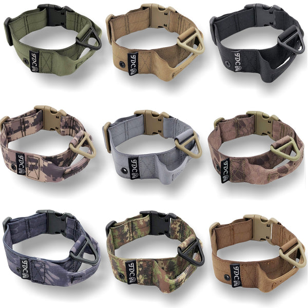 heavy duty d-ring tag hole tactical collar
