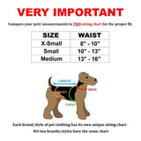 small dog diapers size chart