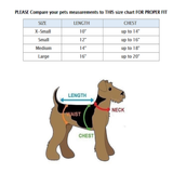Dog Cat Clothes Coat Sweater Hoodie Jacket For Small Pet 100% Cotton Warm Size Chart - FunnyDogClothes