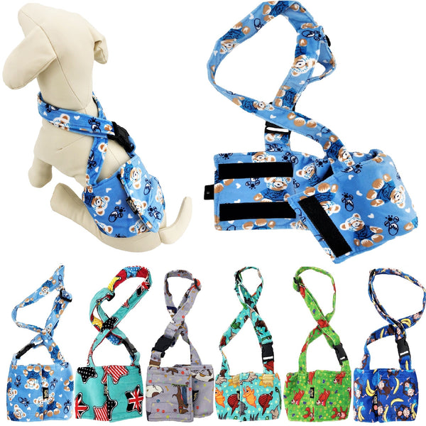dog belly band with suspenders