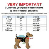 Small pet sapparel clothes hoodie pajama size chart