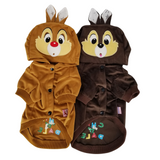 Dog Puppy Cat Clothes Coat Hoodie Jacket Сostume Chip and Dale For SMALL Pet - FunnyDogClothes
