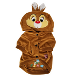 Dog Puppy Cat Clothes Coat Hoodie Jacket Сostume Chip and Dale For SMALL Pet Beige - FunnyDogClothes