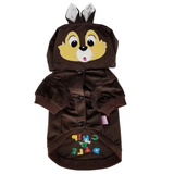 Dog Puppy Cat Clothes Coat Hoodie Jacket Сostume Chip and Dale For SMALL Pet Brown - FunnyDogClothes