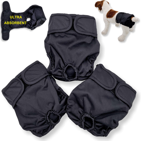 female dog diapers black