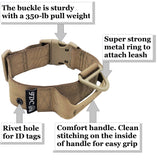 heavy duty tag hole tactical collar