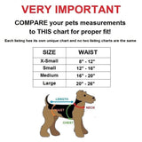 padded dog diapers size chart