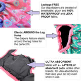 leakproof reusable female dog diapers