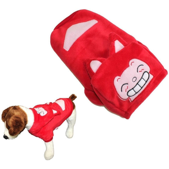 Small Pet Cat Dog Coat Funny Fox Jacket Hooded Costume Fleece - FunnyDogClothes