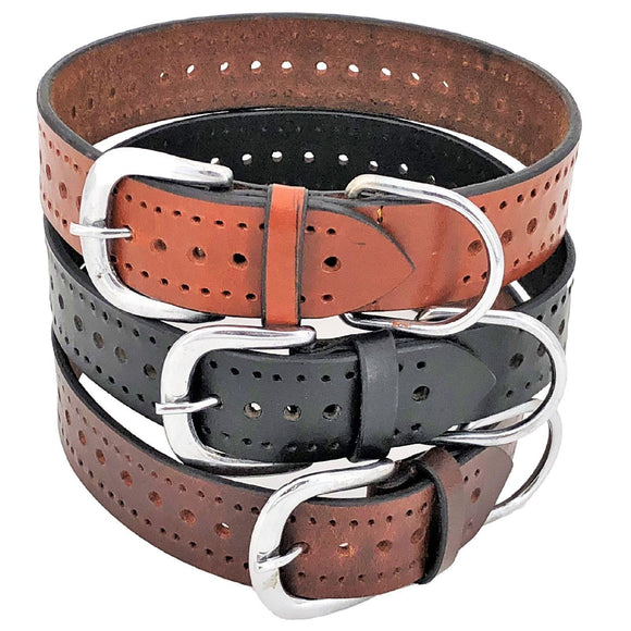 Genuine Real Leather Dog Collar 1.5