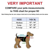 "Genuine Real Leather Dog Collar 1.3"" Width for Medium and Large Pets Size Chart - FunnyDogClothes"