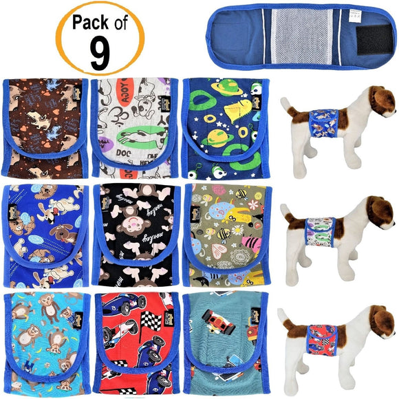 washable dog male diaper belly band wrap