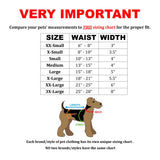 dog diaper male belly band neoprene size chart