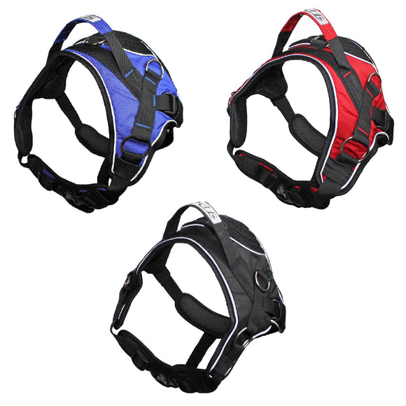 Durable Heavy Duty Padded No-Pull Dog Harness Handle Working Reflective Stripes - FunnyDogClothes