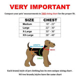 Durable Heavy Duty Padded No-Pull Dog Harness Handle Working Reflective Stripes Size Chart - FunnyDogClothes