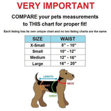 small female dog diapers size chart
