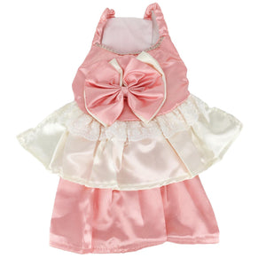 Cute Puppy Wedding Princess Pink Dress Lace Bow For Small Dogs - FunnyDogClothes