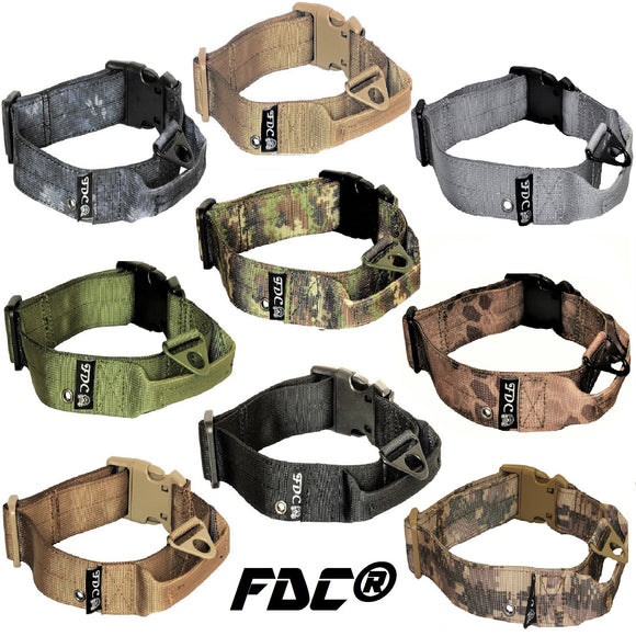 heavy duty military army tactical dog collar