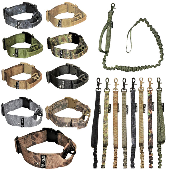 heavy duty training tactical collar and leash set
