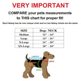 heavy duty training tactical collar and leash set size chart