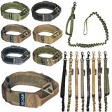 velcro tactical collar with leash