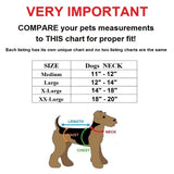 Velcro tactical collar with leash size chart