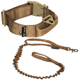 heavy duty training with handle tactical dog collar