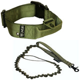 training with handle heavy duty tactical dog collar