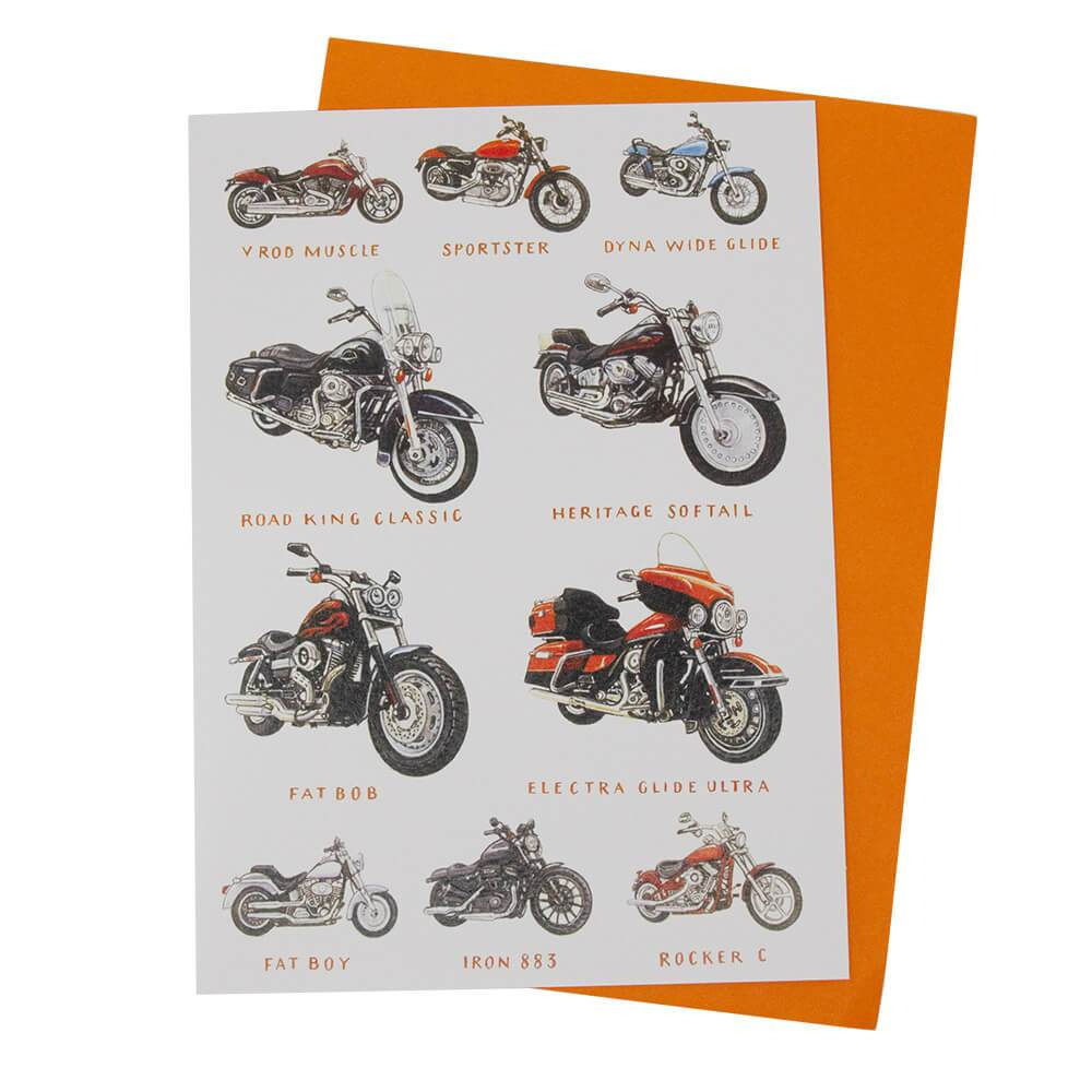 Harley Davidson Motorcycle Birthday Greetings Card Free Uk Delivery Wheelygifts