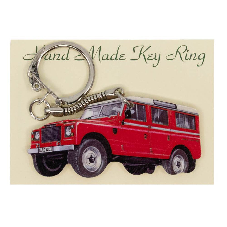 Land Rover Series 3 Keyring With Chrome Keychain Gifts Present