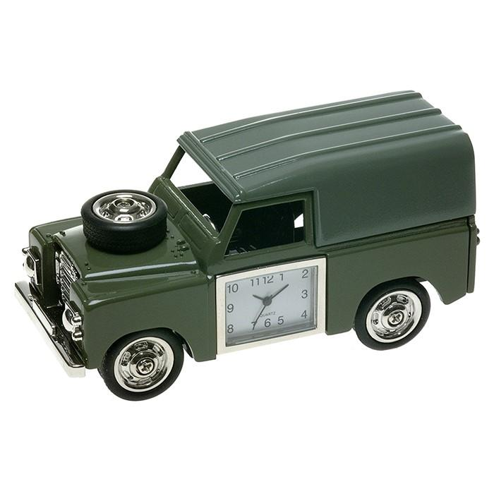 Land Rover Series 2 Style 4x4 Diecast Metal Miniature Desk Clock Gifts Present