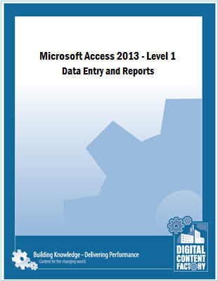 Access 2013 - Level 1 - Data Entry and Reports course