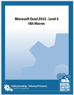 Excel 2013 - Level 3 - VBA Macros course