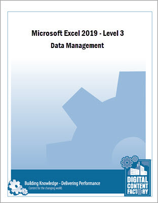 Excel 2019 - Level 3 - Data Management (1 day) - Digital Delivery