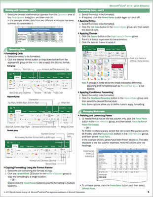 Excel 2019 - Quick Reference